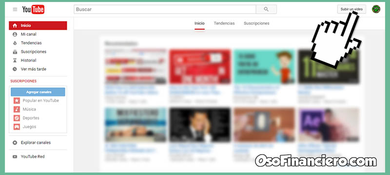 Cómo subir un video a YouTube